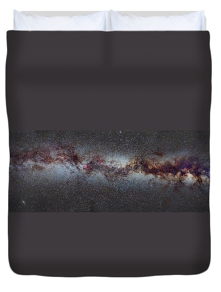 The Milky Way From Scorpio And Antares To Perseus Duvet Cover by Guido Montanes Castillo