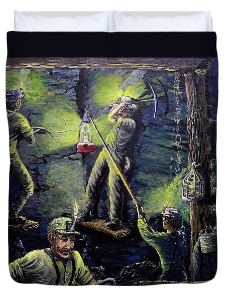 The Miners Way Duvet Cover