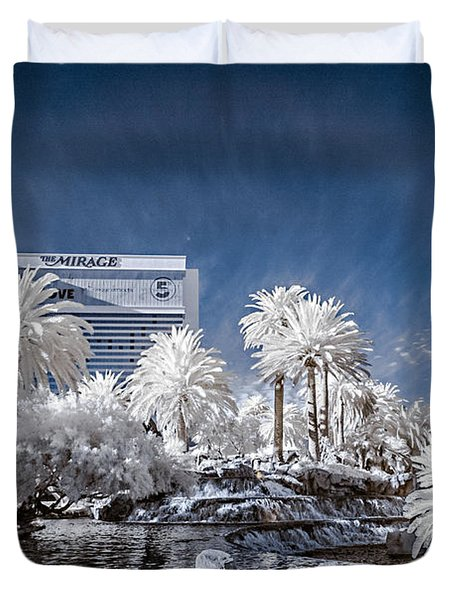 The Mirage In Infrared 1 Duvet Cover