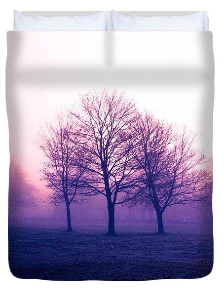 The Mist, England Duvet Cover