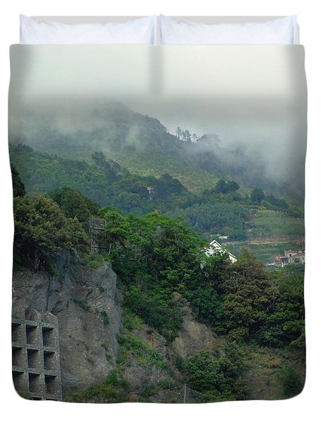 Duvet Cover featuring the photograph The Mist Cometh by Natalie Ortiz