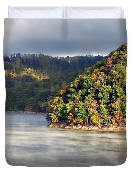 The Mists Of Watauga Duvet Cover