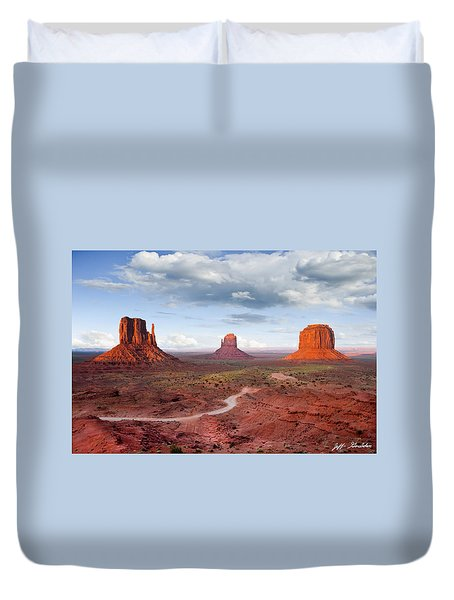 The Mittens And Merrick Butte At Sunset Duvet Cover
