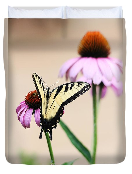 Duvet Cover featuring the photograph The Swallowtail by Trina  Ansel