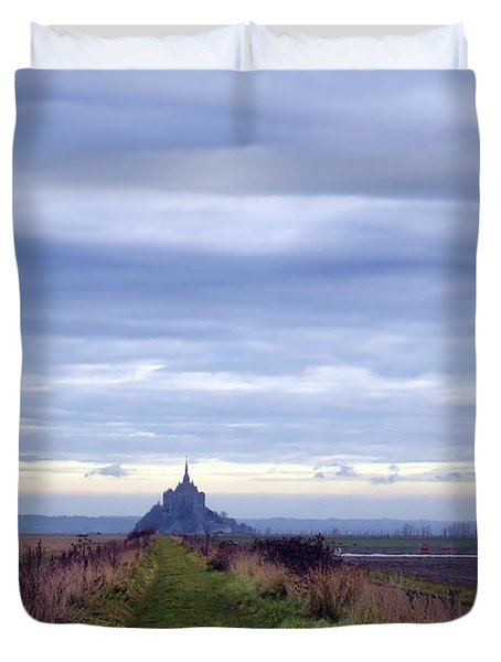 The Mont Saint Michel In Normandy France Duvet Cover