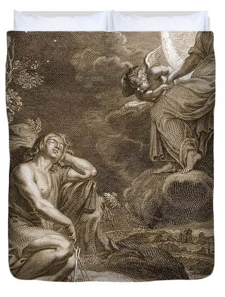 The Moon And Endymion, 1731 Duvet Cover