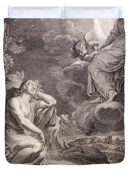 The Moon And Endymion Duvet Cover by Bernard Picart