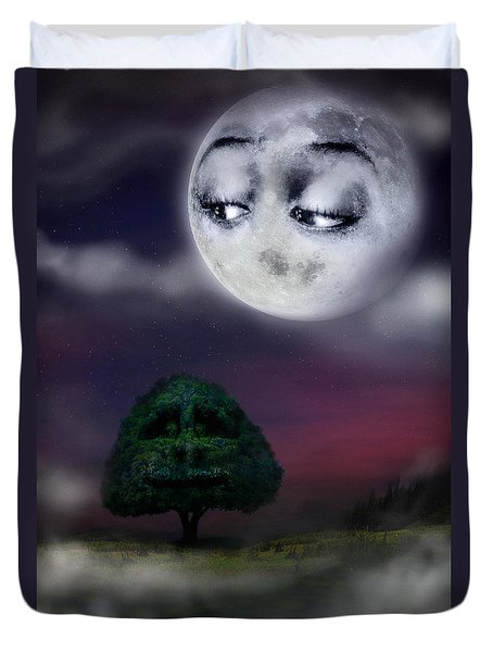 The Moon And The Tree Duvet Cover
