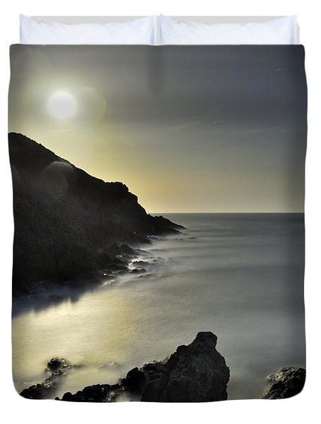 The Moon Duvet Cover by Guido Montanes Castillo