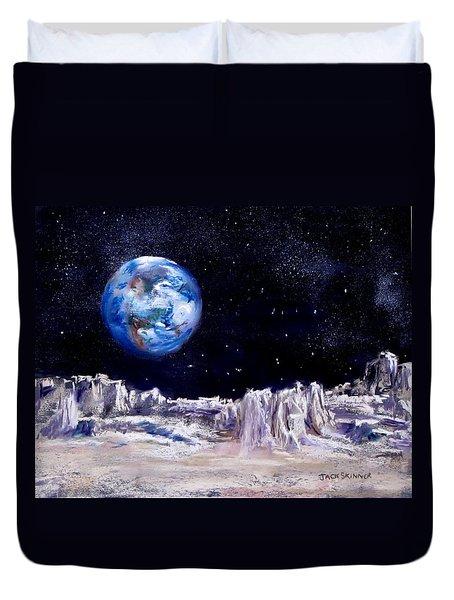 The Moon Rocks Duvet Cover by Jack Skinner