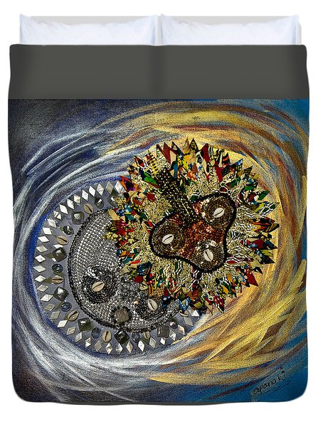 The Moon's Eclipse Duvet Cover by Apanaki Temitayo M