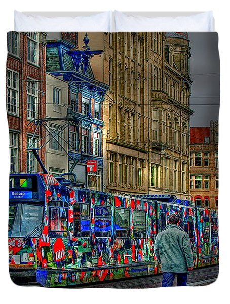 Duvet Cover featuring the photograph The Morning Rhythm by Ron Shoshani