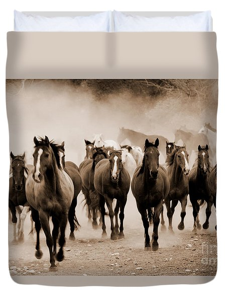 Duvet Cover featuring the photograph The Morning Run by J L Woody Wooden