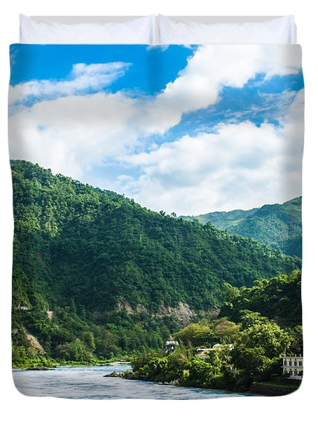 The Mountain Valley Of Rishikesh Duvet Cover
