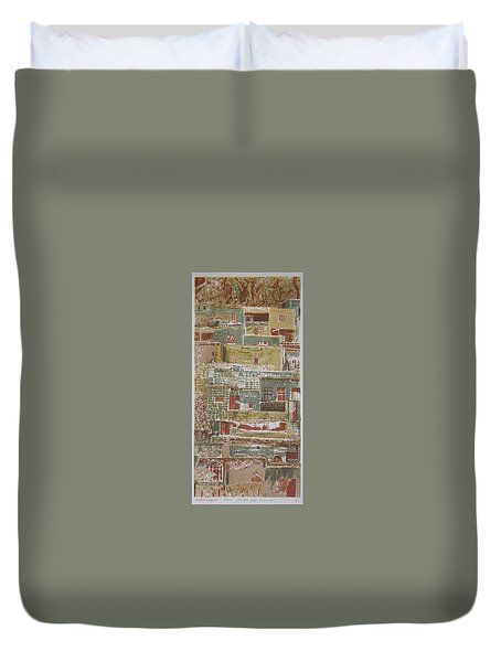 The Mountain Village Duvet Cover