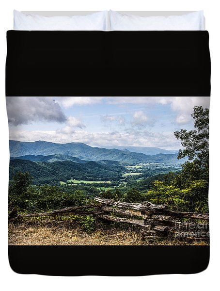 The Mountains Are Calling Duvet Cover by Marilyn Carlyle Greiner