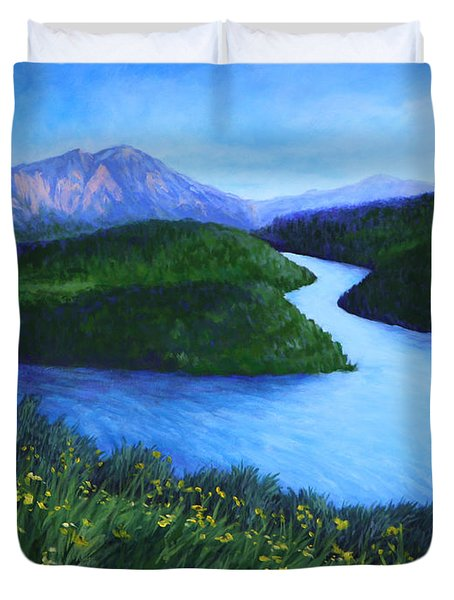 The Mountains Beyond Duvet Cover