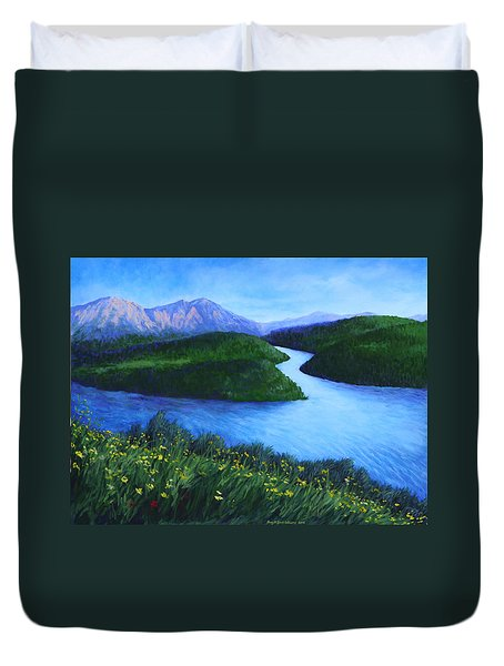 The Mountains Beyond Duvet Cover by Penny Birch-Williams
