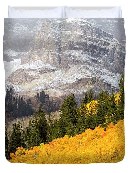 The Mountainside Is Ablaze Duvet Cover
