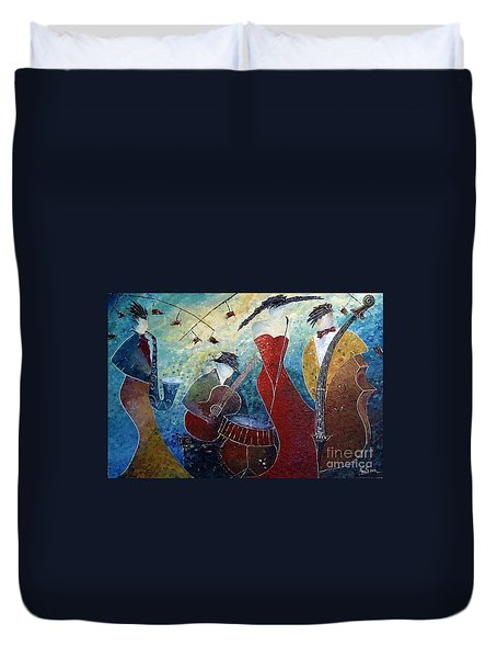The Music Never Stopped 2 Duvet Cover