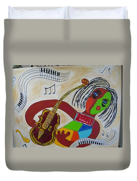 The Music Practitioner Duvet Cover by Sharyn Winters