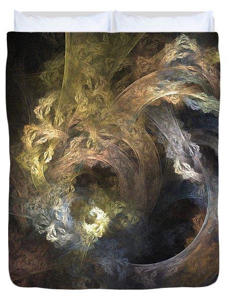 The Mystical Garden - Abstract Art Duvet Cover
