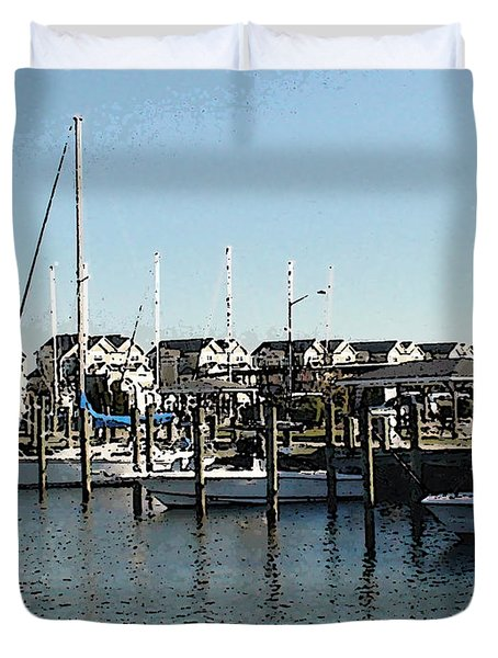 Duvet Cover featuring the photograph The Narrows by Charles Kraus