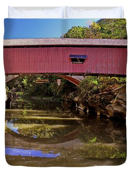 The Narrows Covered Bridge 1 Duvet Cover by Marty Koch