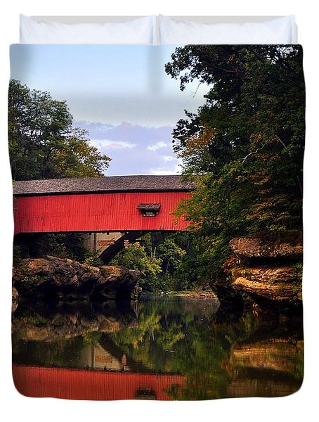 The Narrows Covered Bridge 5 Duvet Cover by Marty Koch