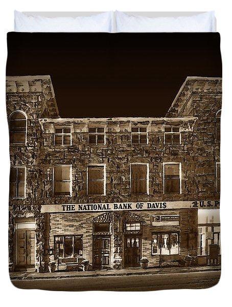 The National Bank Of Davis Wv Duvet Cover by Dan Friend