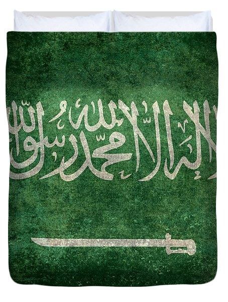 The National Flag Of  Kingdom Of Saudi Arabia  Vintage Version Duvet Cover
