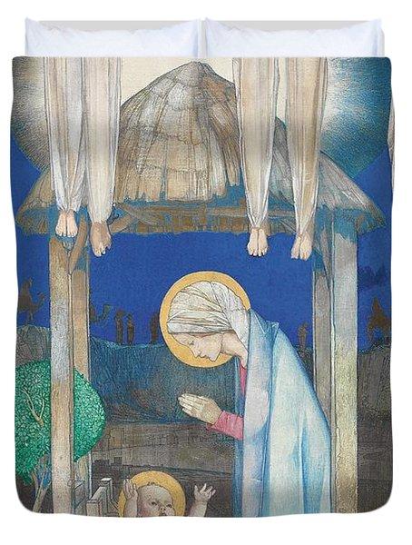 The Nativity Duvet Cover by Edward Reginald Frampton