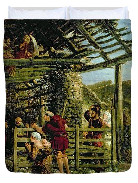 The Nativity Duvet Cover by William Bell Scott