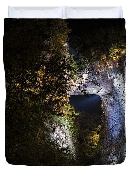 The Natural Bridge At Night  Duvet Cover
