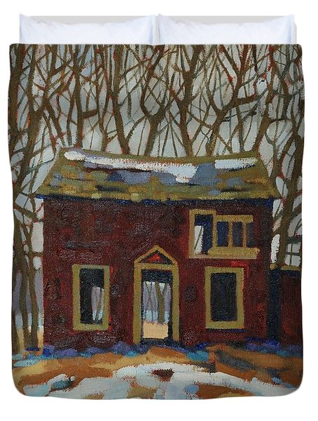 The Neighbour's Duvet Cover by Phil Chadwick