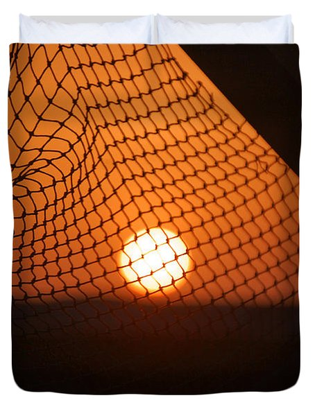 The Netted Sun Duvet Cover by Leticia Latocki