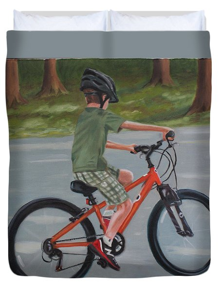 The New Bike Duvet Cover