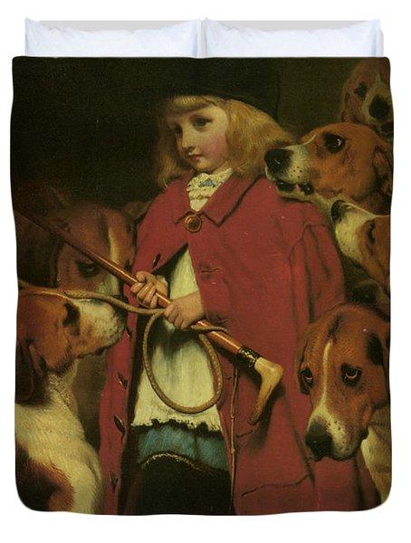 The New Whip Duvet Cover by Charles Burton Barber