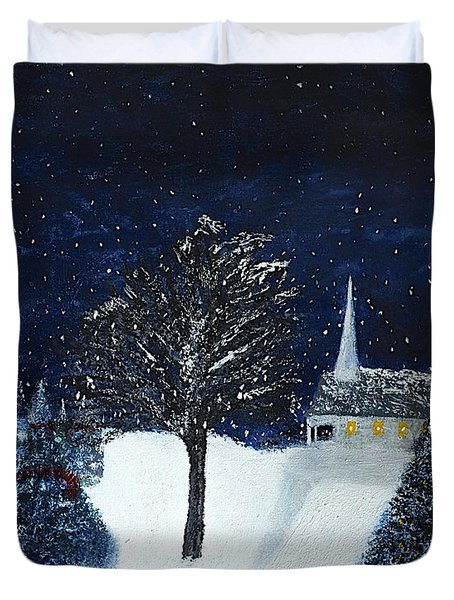 The Night Before Christmas Duvet Cover by Dick Bourgault