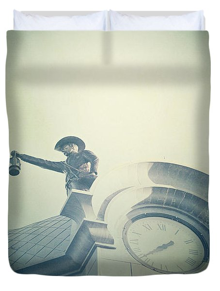 Duvet Cover featuring the photograph The Night Watchman by Trish Mistric