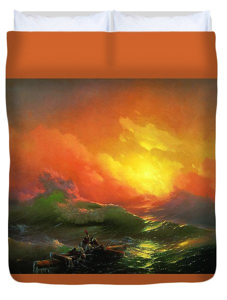 The Ninth Wave 1850 By Aivazovsky Duvet Cover by Movie Poster Prints