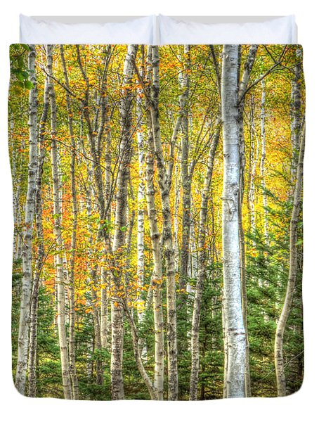 The North Woods Duvet Cover by Wanda Krack
