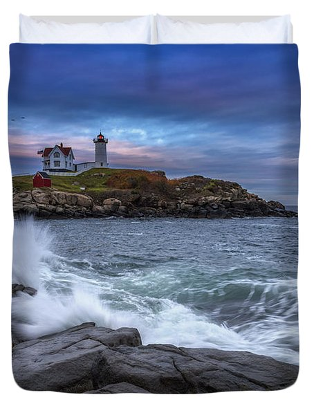 The Nubble In Color Duvet Cover