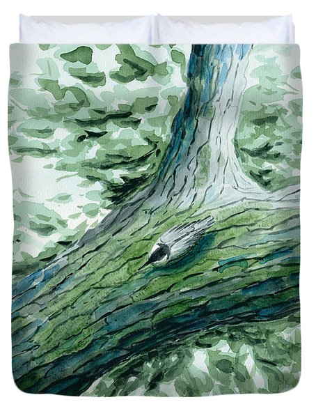 The Nuthatch Duvet Cover