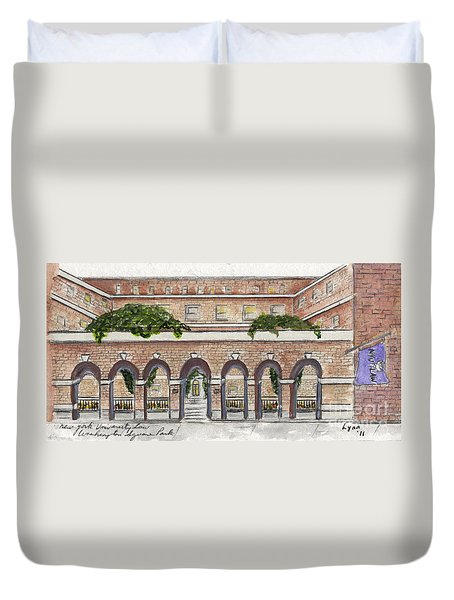 The Nyu Law School Duvet Cover by AFineLyne