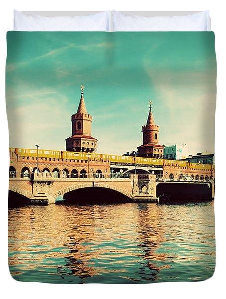 The Oberbaum Bridge In Berlin Germany Duvet Cover by Michal Bednarek