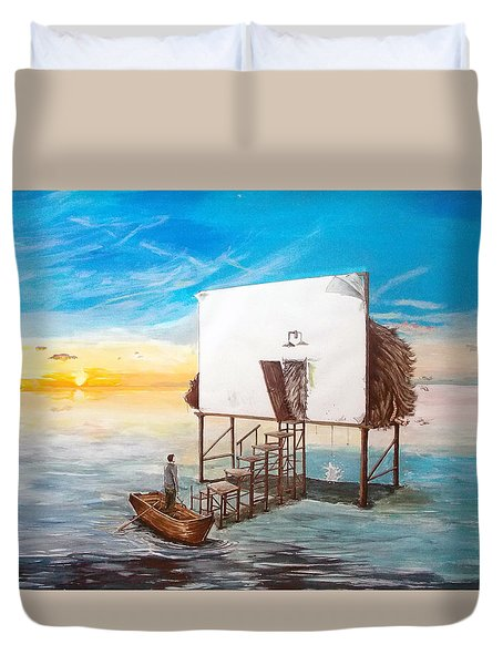 The Occult Listen With Music Of The Description Box Duvet Cover