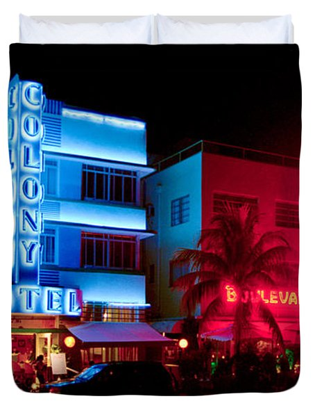 Duvet Cover featuring the photograph The Ocean Drive by Gary Dean Mercer Clark