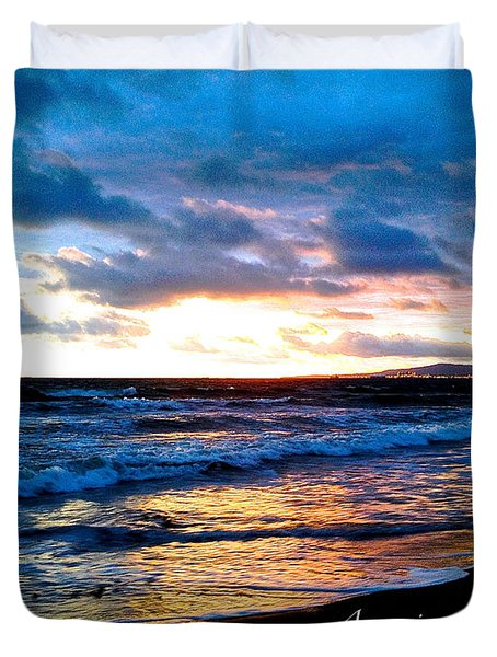 The Ocean Flows With Amazing Grace Duvet Cover