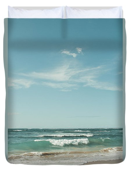 The Ocean Of Joy Duvet Cover by Sharon Mau